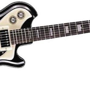 Italia Mondial Classic Series Semi-Hollow Electric Guitar - Black for sale