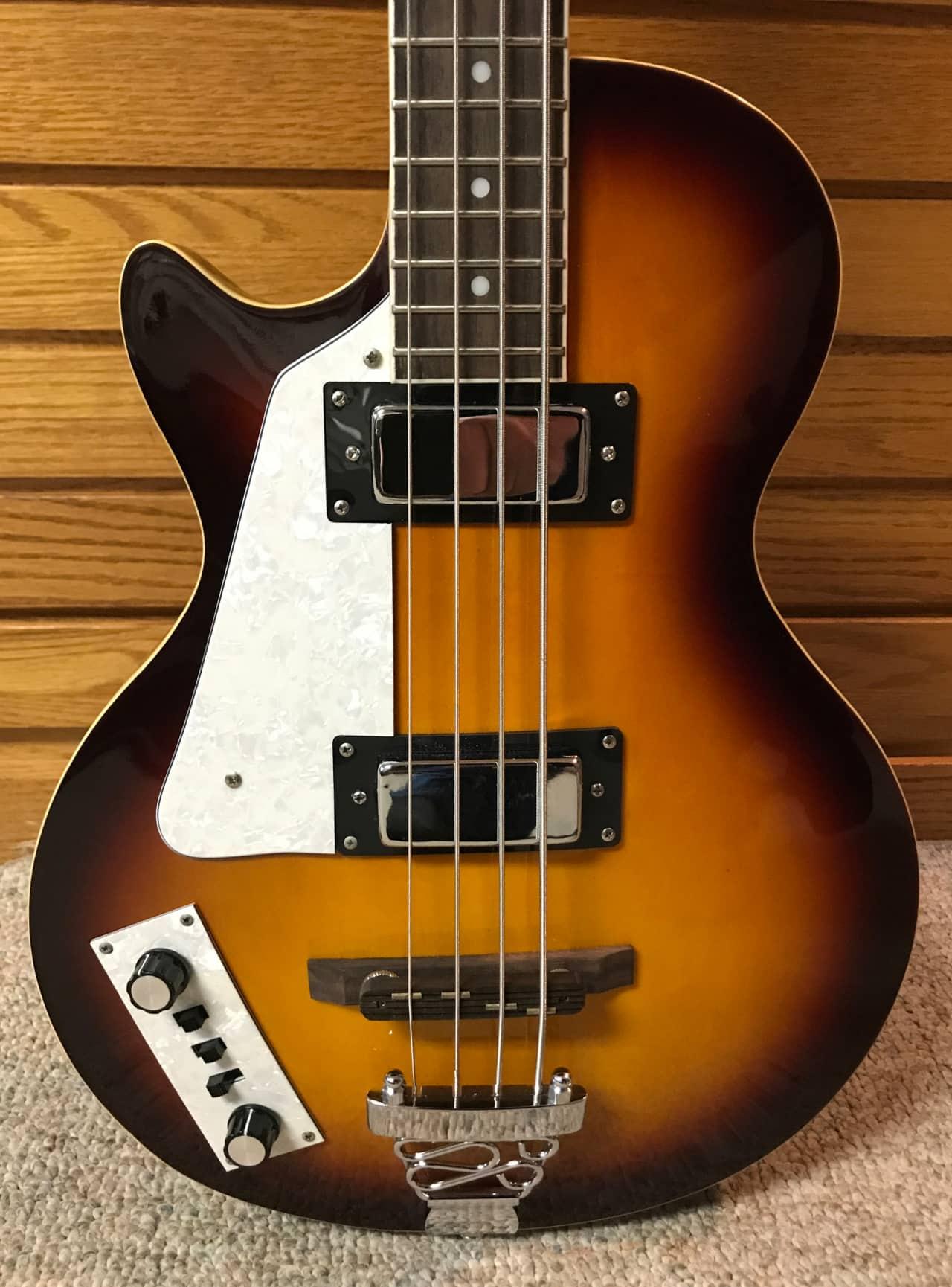 maestro left handed hollow body bass guitar reverb. Black Bedroom Furniture Sets. Home Design Ideas