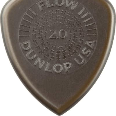 Dunlop 549P20 Flow Standard Grip 2mm Guitar Picks (6-Pack)