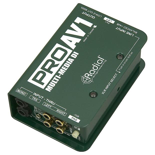 Radial proav1 passive multimedia di box bundle geartree for 2 aggiunta di box auto