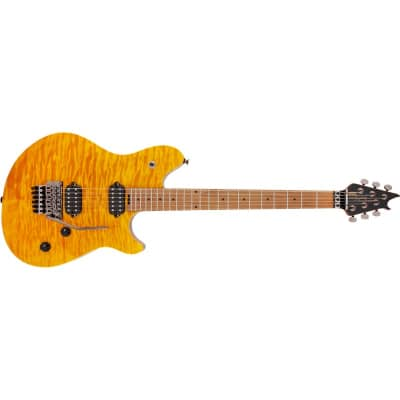 EVH Wolfgang WG Standard QM, Baked Maple Fingerboard, Transparent Amber for sale