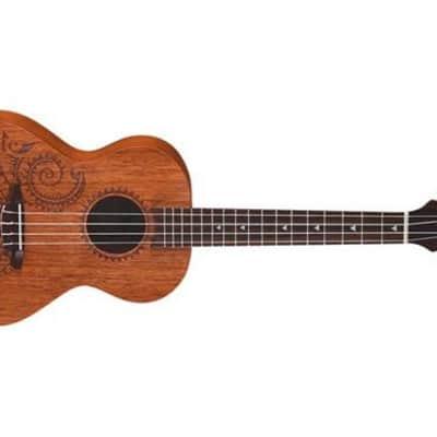 Luna Guitars UKE TTN MAH Uke Tattoo Mahogany Tenor Ukulele for sale