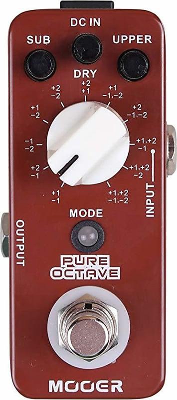 mooer pure octave guitar effects pedal reverb. Black Bedroom Furniture Sets. Home Design Ideas