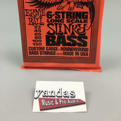 Ernie Ball Slinky Series Bass Guitar Strings - 6 String Slinky | Long Scale