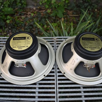 *1 left* Rola Celestion G12M Blackback 75hz 1777 Kurt Mueller cone Greenback 8 ohm speaker 1978