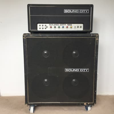 Sound City B120 Amp and B110 4X12 Cabinet  Partridge transformers Pulsonic Cones for sale