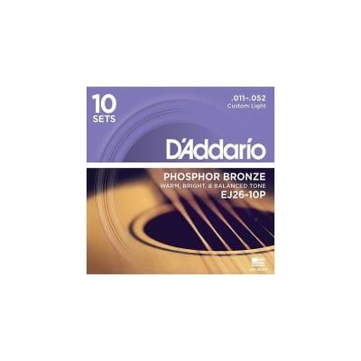 D'Addario EJ26-10P Phosphor Bronze 11-52 10-Pack