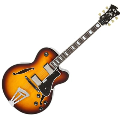 Fujigen Masterfield Archtop Hollow Body Electric Guitar MFA-HH Sunburst for sale