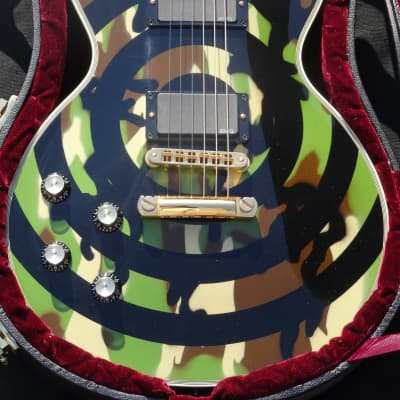 Gibson Zakk Wylde Camo Les Paul Custom 1st Lefty Lefthand Handsigned by Zakk Wylde LH for sale