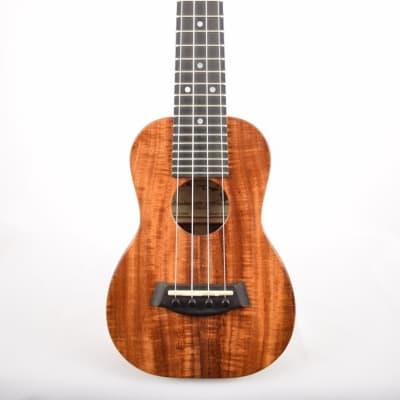 Kanile'a K-1S-DELUXE : Deluxe Curly Hawaiian Koa Soprano Ukulele (24369) for sale