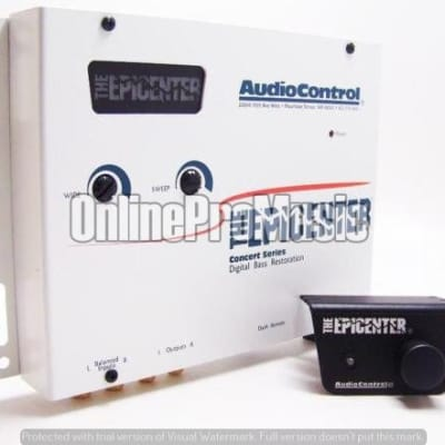 AudioControl White Epicenter Concert Series Bass Enhancer Restoration Processor