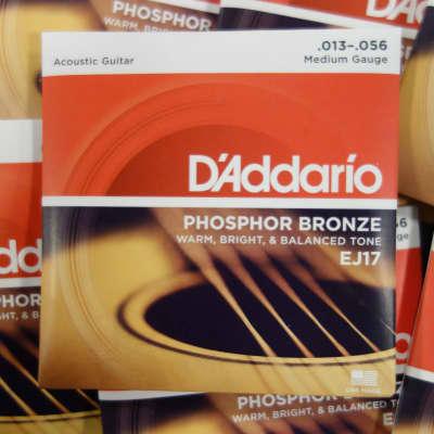 D'Addario EJ17 Medium 13-56 Phophor Bronze ( 10 sets )