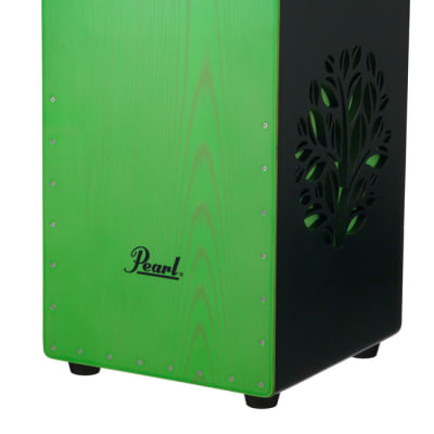 PBC53D536 Pearl 3D Cajon with green faceplate and 3D tree