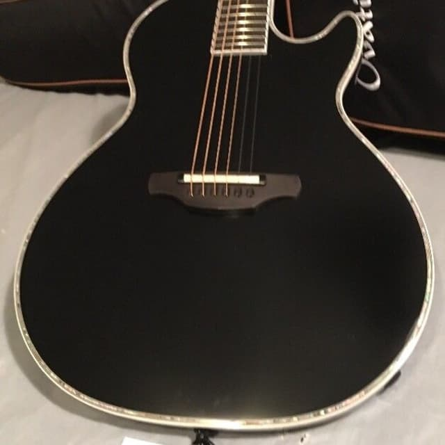 Ovation Viper DPAK5 Dave Amato Signature  Series Black Acoustic Electric Guitar w/Gigbag image