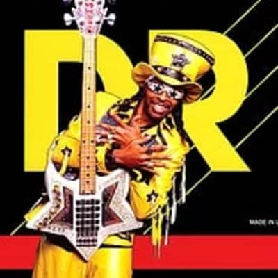 """DR Bootsy Collins """"Bootzillas"""" Coated Stainless Steel Electric Bass Strings Heavy 50-110"""