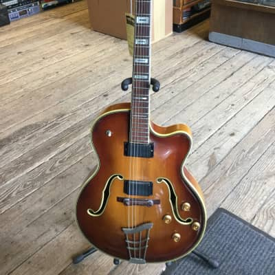 Imperial Archtop Electric Guitar 1960's Tobacco Burst for sale