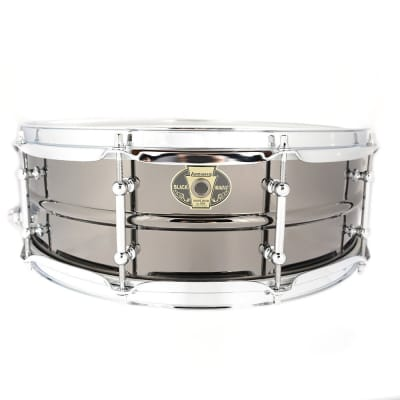 """Ludwig LW0515 Black Magic Brass 5x15"""" Snare Drum with Chrome Hardware"""