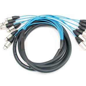 Elite Core Audio PEX610 6-Channel Fan To Fan XLR Extension Snake Cable - 10'