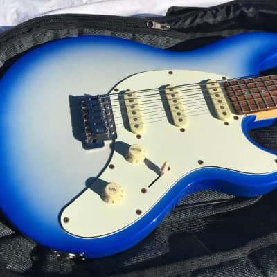 Aria Nexter Electric Guitar Cool Blue RARE Nice w/ Case for sale