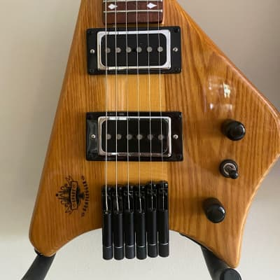 Bootlegger Spade Headless Travel Guitar Solid wood full scale for sale