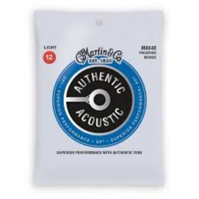 Martin MA540 SP Phosphor Bronze Light Authentic Acoustic Guitar Strings .012-.054