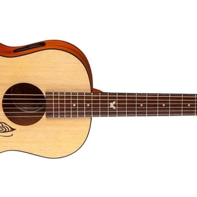 Luna GYP DREAM Gypsy Dream Acoustic Electric Parlor Size Spruce Top Guitar for sale