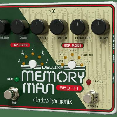 Electro-Harmonix EHX Deluxe Memory Man 550-TT Analog Delay Guitar Effects Pedal