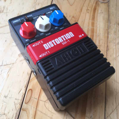 Arion SDI-1 Stereo Distortion vintage 1980s MIJ Japan 1980s Black and Red for sale