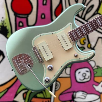 Limited edition Fender Parallel Universe II Jazz Strat - Mystic Surf Green for sale
