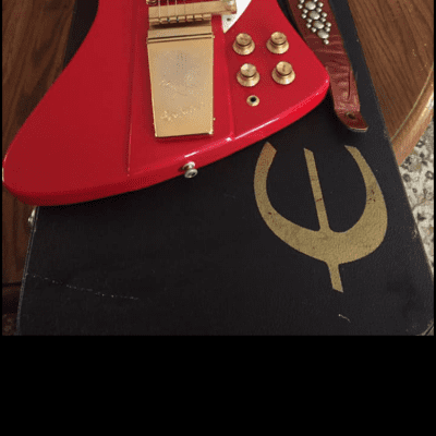 Epiphone 63 Firebird VII Reissue 2000s Cherry red, gold hardware, pearl inlay for sale