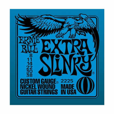 ERNIE BALL Extra Slinky Nickel Wound Electric Guitar Strings (2225) Single Pack