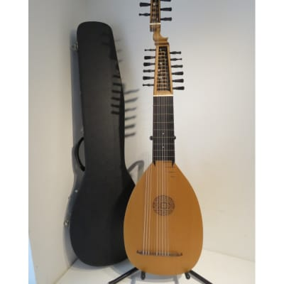 13 Course Baroque Theorbo Swan Head Lute by Armin Gropp with Hard Case for sale