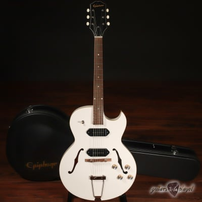 "Epiphone George Thorogood ""White Fang"" ES-125TDC Guitar w/ Case - Bone White"