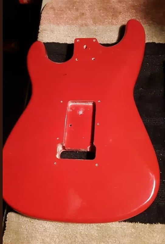 Fender Squier Stratocaster MIK 1990 Fiesta Red   Nymusic on