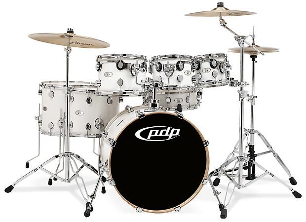 Pdp X7 Series Maple Pearl White Drum Set Kit Shell Pack Reverb