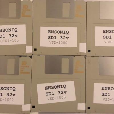 Ensoniq SD-1 32v Complete Sound Collection on 6 Floppy Disks