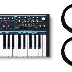 """Novation Bass Station II Synthesizer w/ 2 10-foot Mogami 1/4"""" Instrument Cables Bundle"""