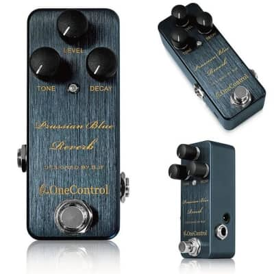 One Control BJF Prussian Blue Reverb Guitar Effect Pedal for sale