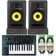 """Roland AIRA System-1 Synthesizer + KRK Rokit RP5G3 5"""" Monitor Speakers + Cables"""