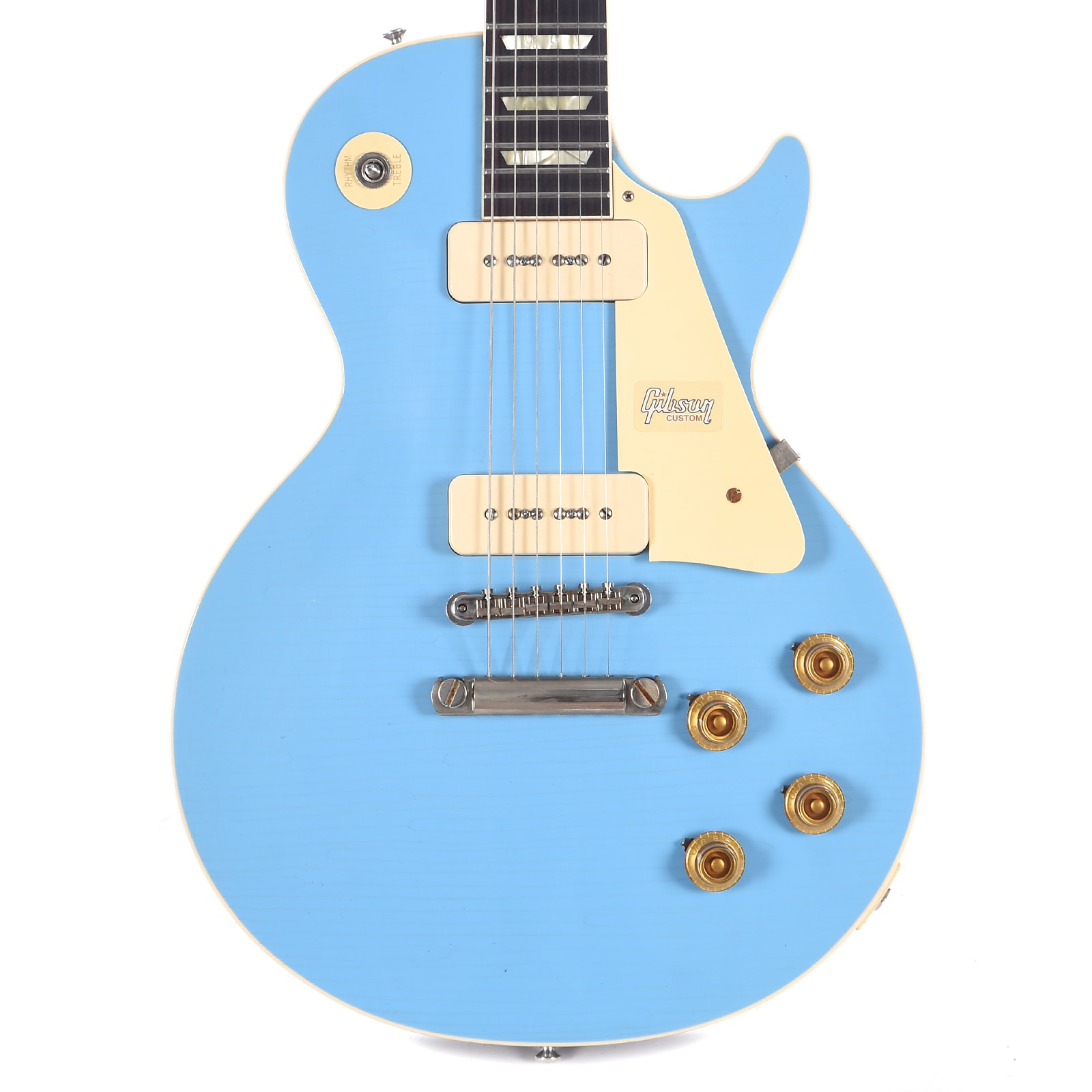 Gibson Custom 1956 Les Paul Standard Frost Blue Lightly Aged (Serial #CME90017)