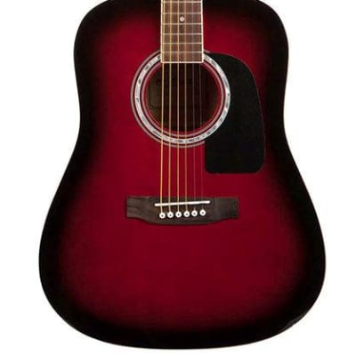 Aria AW-15 Dreadnought Acoustic Guitar in Red Sunburst for sale