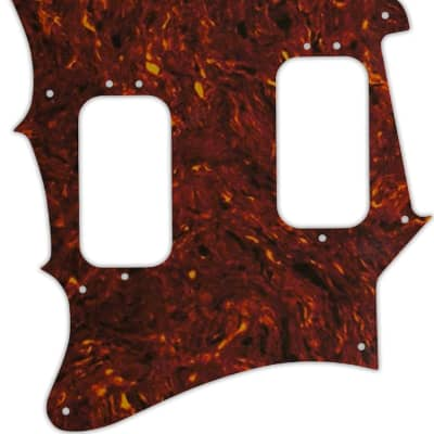 WD Custom Pickguard For Left Hand Fender 2012-2013 Made In Mexico Pawn Shop Super-Sonic #05 Tortoise Shell/Mint Green