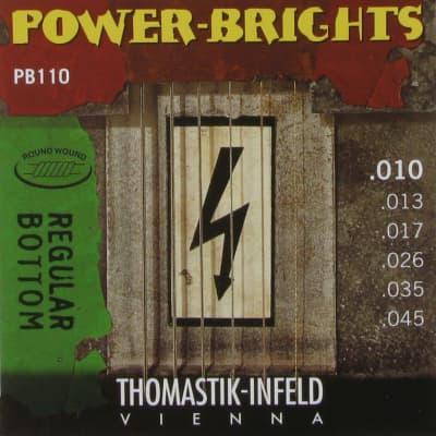 NEW Thomastik-Infeld Power Brights Electric Guitar Strings PB110 (.010 - .045)