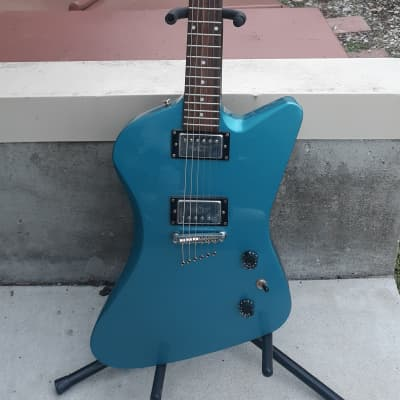 2001 Epiphone Slasher, Blue, needs repair for sale
