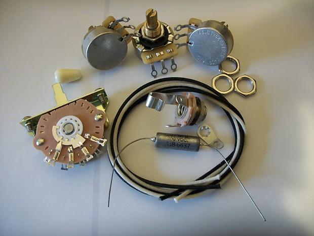 custom spec wiring harness upgrade kit for strat nos usa reverb. Black Bedroom Furniture Sets. Home Design Ideas