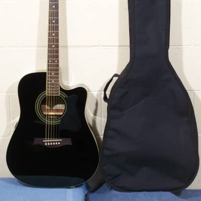 Ibanez V70ce Black Acoustic Electric Guitar Gear Reverb