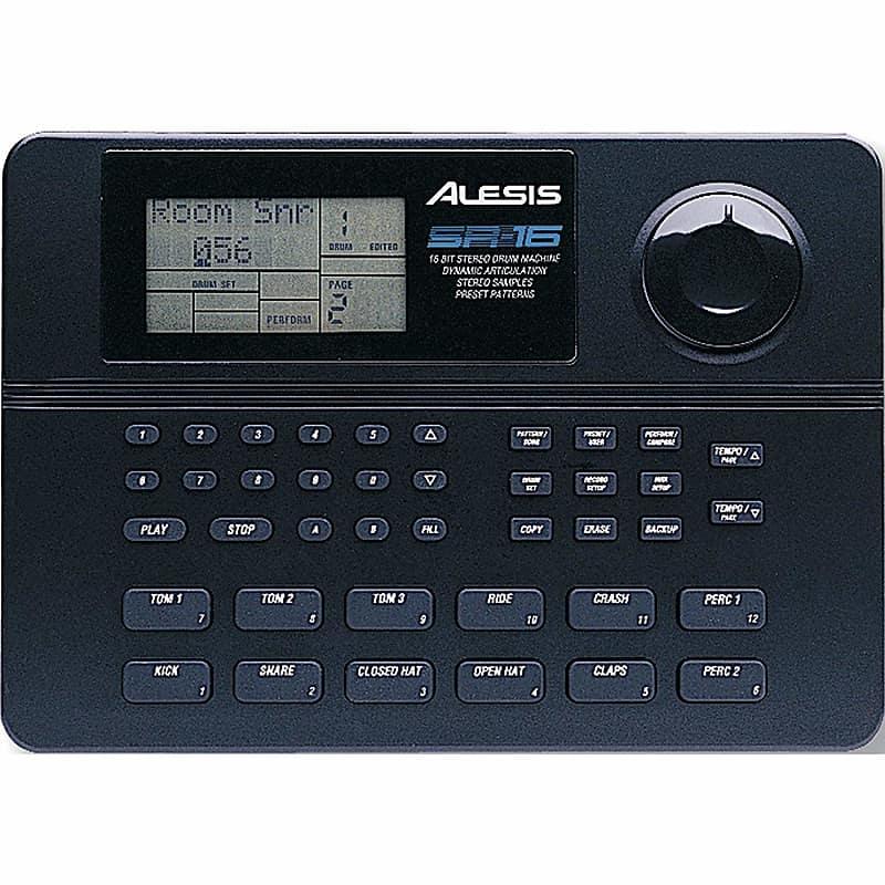 alesis sr 16 24 bit stereo drum machine with dynamic reverb. Black Bedroom Furniture Sets. Home Design Ideas