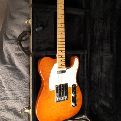 Mollenhauer  Tele style  2019 Quilted burnt orange for sale