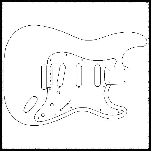 Stratocaster Vibrato Guitar Routing Templates