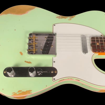 2019 Fender Telecaster 1960 Custom Shop  Heavy Relic 60 Tele ~ Surf Green for sale
